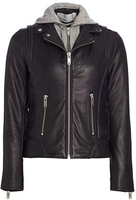 Doma Pam Hooded Leather Jacket