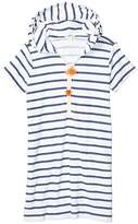 J.Crew Crewcuts By crewcuts by Terry Pom-Pom Dress (Toddler/Little Kids/Big Kids) (White/Dusty Navy) Girl's Clothing