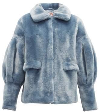 Shrimps Zio Faux Fur Jacket - Womens - Blue