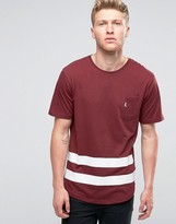 Ringspun Baseball Pocket T-shirt With Curved Hem