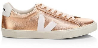 Veja V-10 Esplar Metallic Leather Sneakers