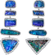 Irene Neuwirth Diamond Collection Boulder Opal & Diamond Drop Earrings
