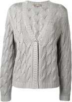 Cruciani cable knit cardigan - women - Cashmere - 40