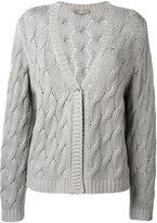 Cruciani cable knit cardigan - women - Cashmere - 40