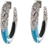 Alexis Bittar Crystal Encrusted Mosaic Lace Hoop Earring