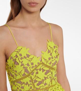 Self-Portrait Floral lace minidress