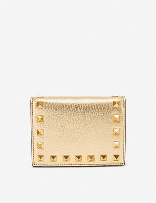 Valentino Rockstud French leather wallet