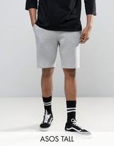Asos Tall Jersey Skinny Shorts In Grey Marl