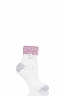 Heat Holders Ladies Sleep Feather Top Socks Pack of 1 Cream 4-8