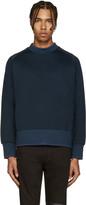 Diesel Black Gold Blue Extended Crewneck Sweatshirt