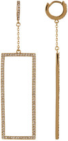 Vince Camuto Pave Rectangle Drop Huggie Earrings