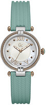 Gc Ladies' CableChic Green Silicone Strap Watch