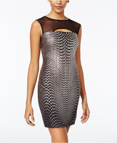 Jump Juniors' Glitter Illusion Bodycon Dress