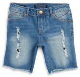 Vigoss Girls Distressed Cut-Off Denim Shorts