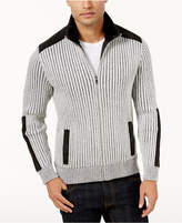 INC International Concepts Men's Mixed Media Sweater-Jacket, Created for Macy's
