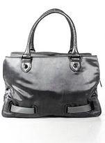 Botkier Grey Nylon Embellished Structured Large Satchel Handbag