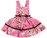 Helena Cherry Blossoms Crewneck Dress, Pink, Size 12-18 Months