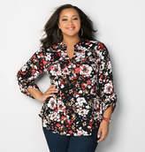 Avenue Floral Zipper Pocket Shirt
