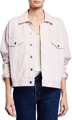 Alexander Wang Game Oversized Button-Front Denim Jacket