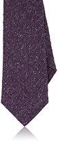 Isaia Men's Dot-Embroidered Necktie-PURPLE