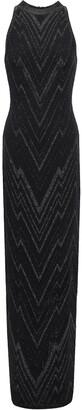 Balmain Crystal-embellished Velvet Gown