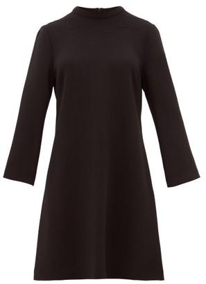 Goat Juno Wool-crepe Dress - Black