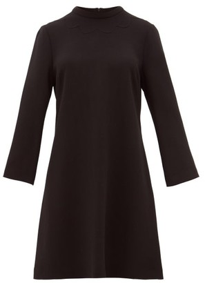 Goat Juno Wool-crepe Dress - Womens - Black