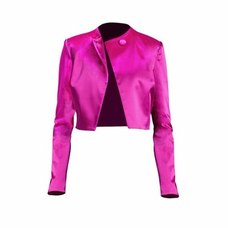 Philosofée By Glaucia Stanganelli Satin Cropped Jacket Pink
