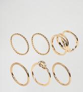 Asos Pack of 6 Twist & Knot Rings