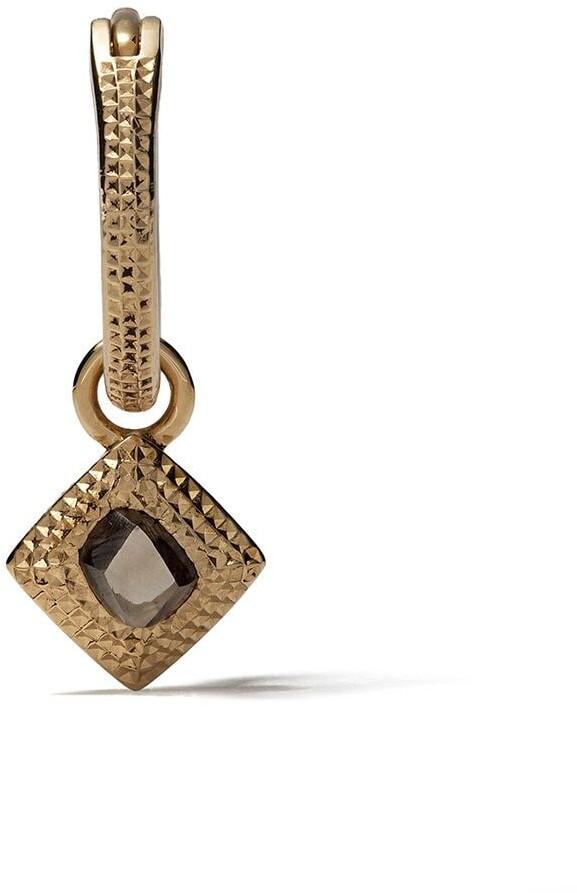 De Beers 18kt yellow gold Talisman rough diamond earring
