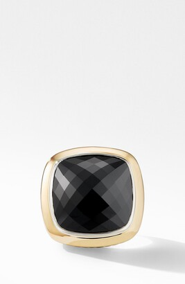 David Yurman Albion® Statement Ring with 18K Gold and Champagne Citrine or Reconstituted Turquoise
