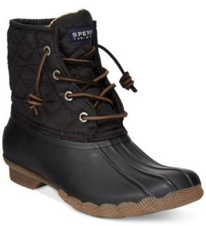 Sperry Women's Saltwater Quilted Duck Booties Women's Shoes
