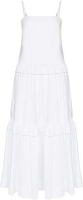 Rosetta Getty tiered poplin maxi dress