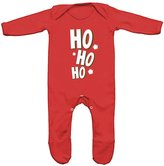 FLOSO Baby Girls/Boys Ho Ho Ho Romper Sleep Suit (3-6 Months)