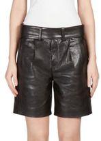 Saint Laurent Leather Elongated Shorts