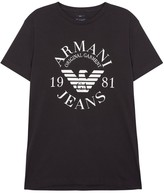 Armani Jeans Midnight Blue Logo Cotton T-shirt