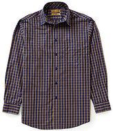 Roundtree & Yorke Gold Label Non-Iron Long-Sleeve Multi-Check Sportshirt