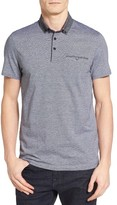 Ted Baker Men's Cocoa Contrast Collar Stripe Polo