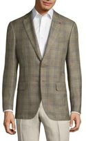 Isaia Giacca Wool Plaid Jacket