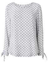 Jeanswest Mariam Print Tie Sleeve Top-Multi-10