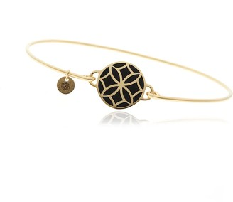 Georgina Jewelry Signature Day Of The Week Limited Edition Bracelet Onyx Flower Resin Button