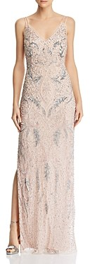 Aidan Mattox Deco Beaded Gown - 100% Exclusive