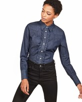 G Star Women's Tacoma Clean Slim Frill Shirt Wmn Ls Blouse