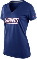 Nike Women's Short-Sleeve New York Giants V-Neck T-Shirt