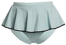 Marysia Swim Women's Plana Tiered Ruffle Bikini Bottom