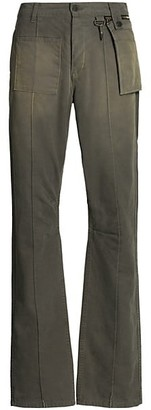 Reese Cooper Canvas Wide-Leg Trousers