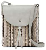 Lucky Brand Teli Leather & Woven Crossbody Bag