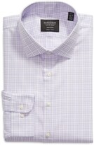 Thumbnail for your product : Nordstrom Trim Fit Plaid Non-Iron Stretch Dress Shirt