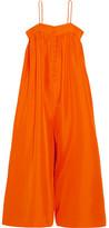 Apiece Apart Aroussa Silk Jumpsuit - Bright orange