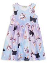 Little Mass Todderl's Cat-Print Dress